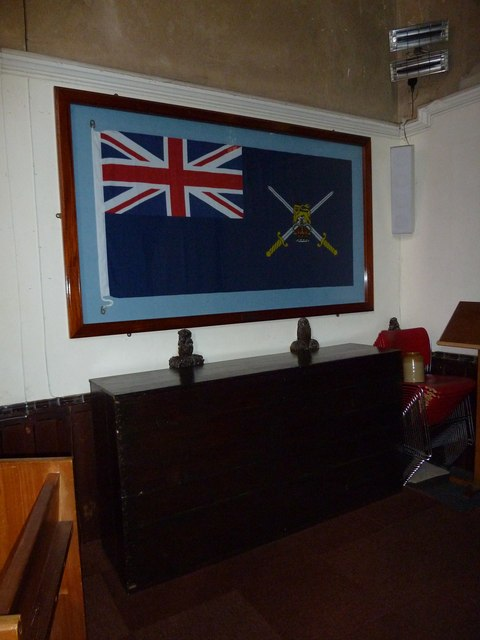 St John the Apostle, Marchwood- flag above the church chest