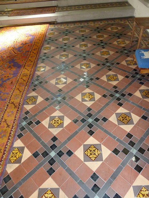 St John the Apostle, Marchwood- tiles