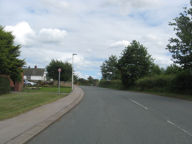 Road heading in to Thursby in Cumbria