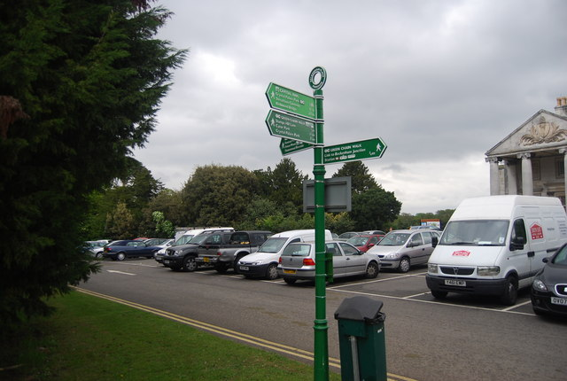 Green Chain Walk signpost, Beckenham Place Park