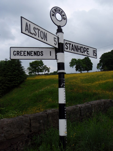 Traditional road signpost  Nenthead