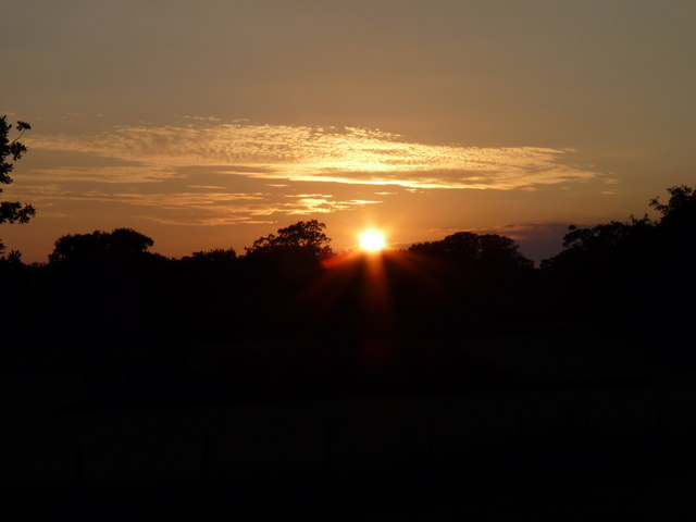 Sunset on Midsummer's Day
