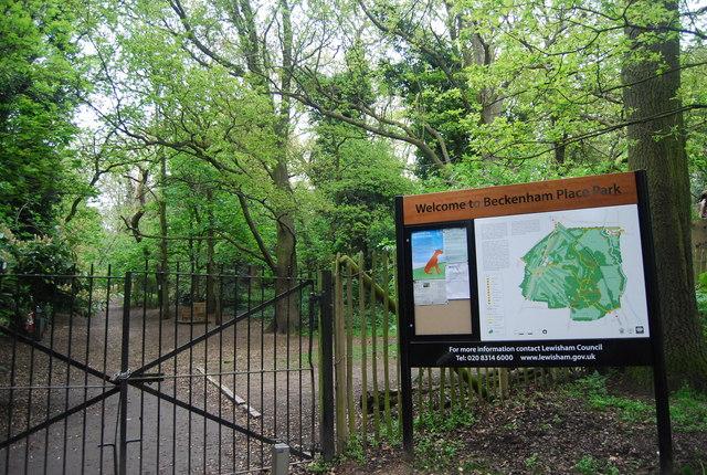Entrance to Beckenham Place Park