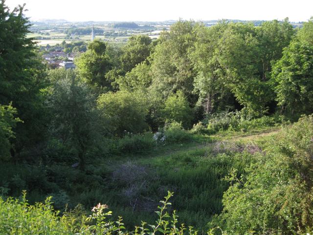 Below the viewpoint, Over Lane, Almondsbury