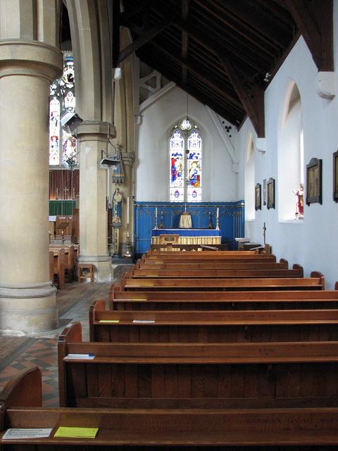 St Edmund's church in Hunstanton - south aisle