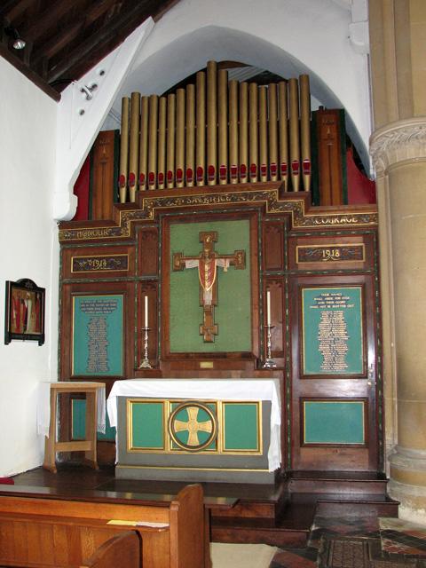 St Edmund's church in Hunstanton - St George's altar