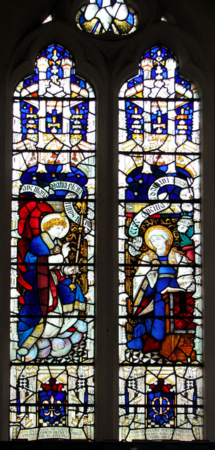 St Edmund's church in Hunstanton - Victorian glass