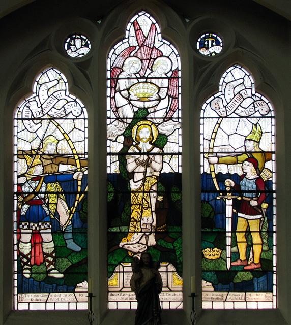 St Edmund's church in Hunstanton - C20 stained glass