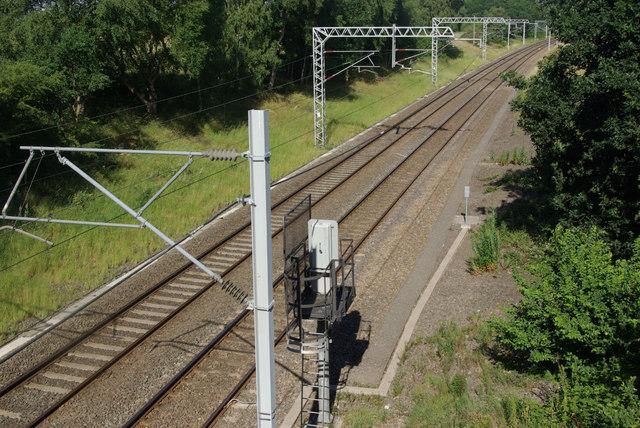 Railway passing Brandon Wood