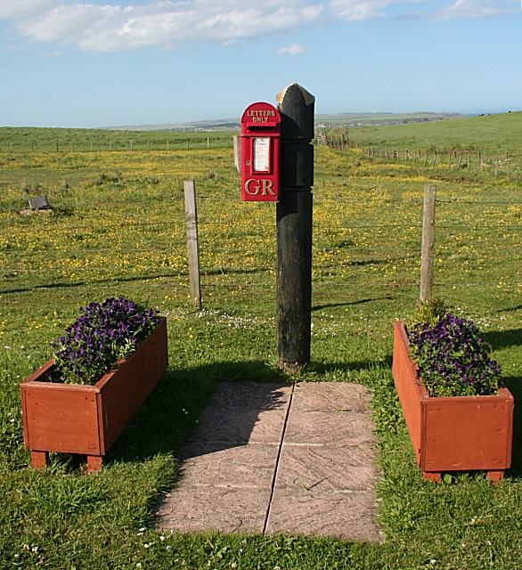 Post Box at Whinnyfold