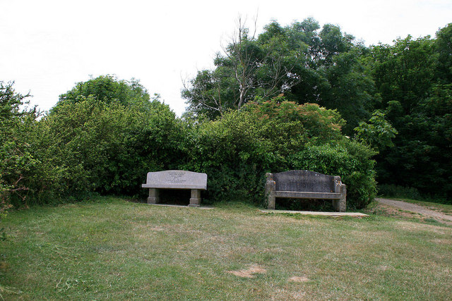 Two memorial benches