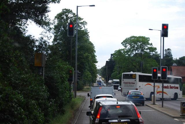 Traffic lights, Elveden crossroads