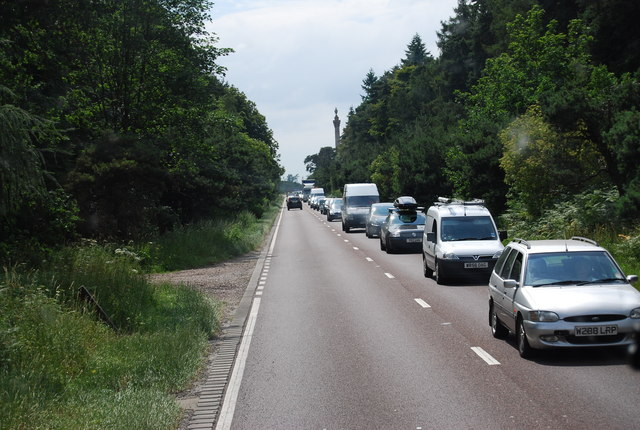 The A11 heading south west