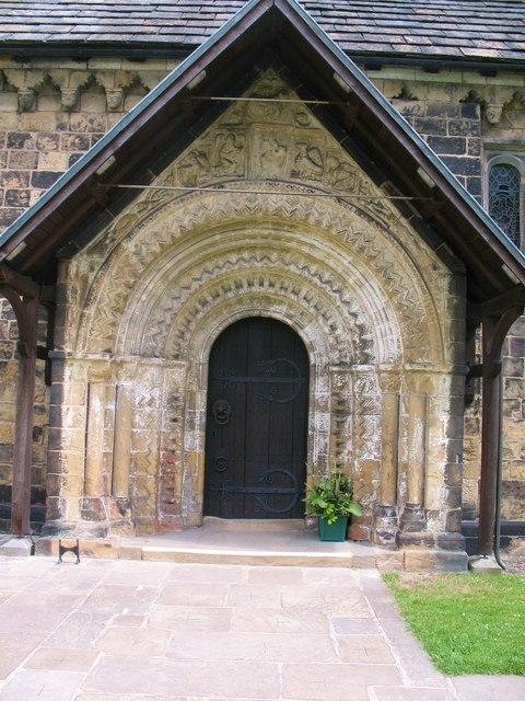 South door, Adel church