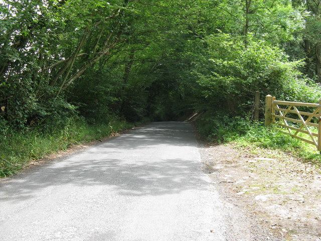 View east on Burnt Oak Road towards Burnt Oak