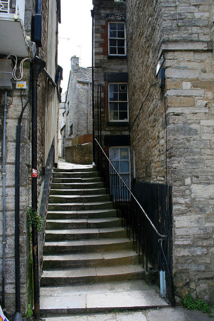 Steps and alley