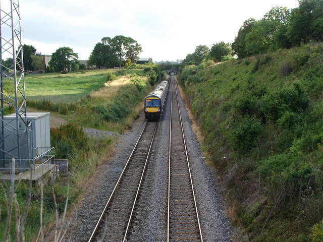 Railway to Chepstow from Snipe Hill