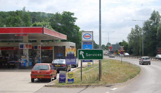 Filling station by the A11, Barton Mills