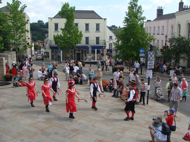 Morris Dancing in Beaufort Square during the Chepstow Festival