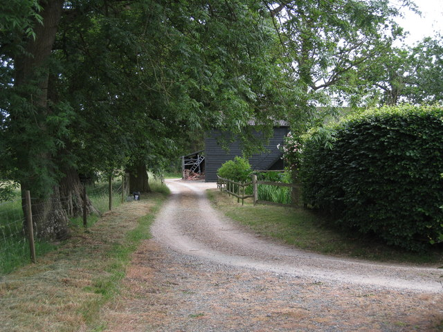 Track to Barn at Chittenden