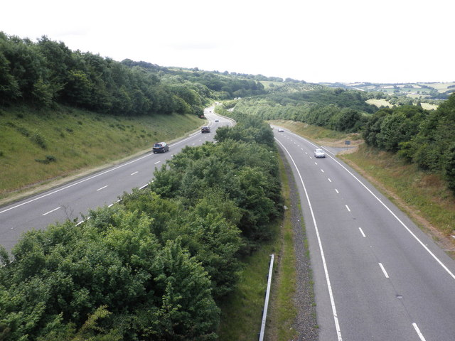 The A30, south of Okehampton