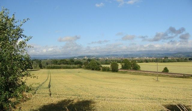 Field and railway line, near Minsterworth