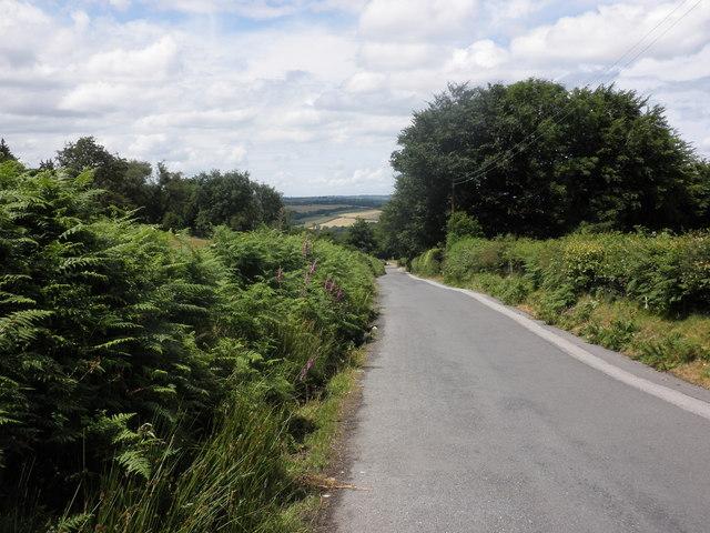 Minor road, above Okehampton
