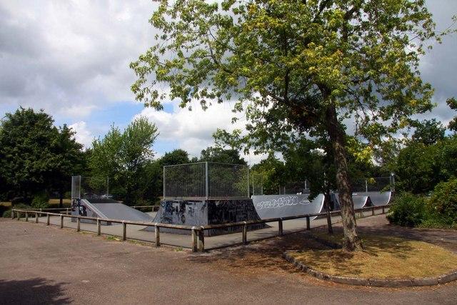 Skateboard and BMX Park in the car park