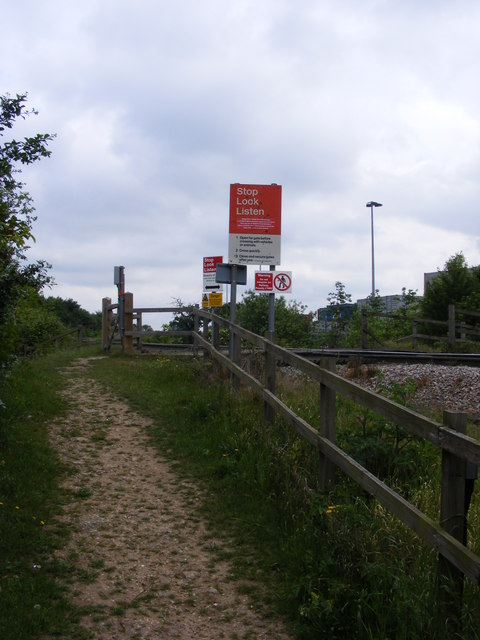Approaching the footpath level crossing