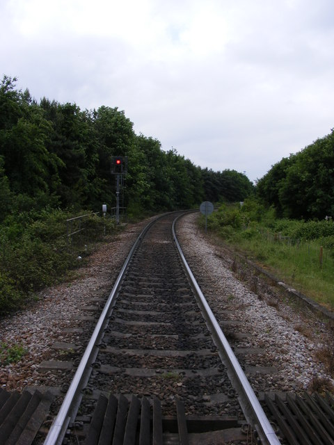 The railway towards Felixstowe North Quay Terminal