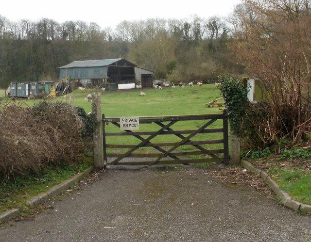 Farm entrance, Ponthir