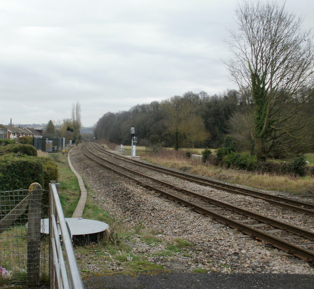 The view SE from Ponthir level crossing