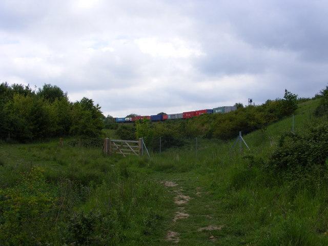 Railway embankment near Clickett Hill