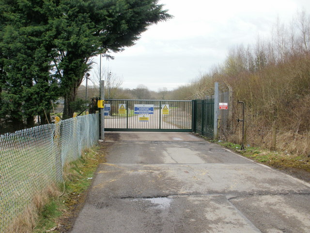 Entrance to Ponthir Waste Water Treatment Works