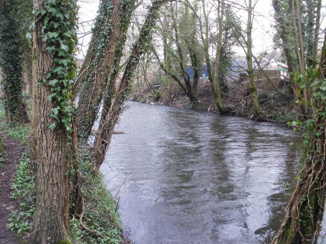 Riverside path, Ponthir