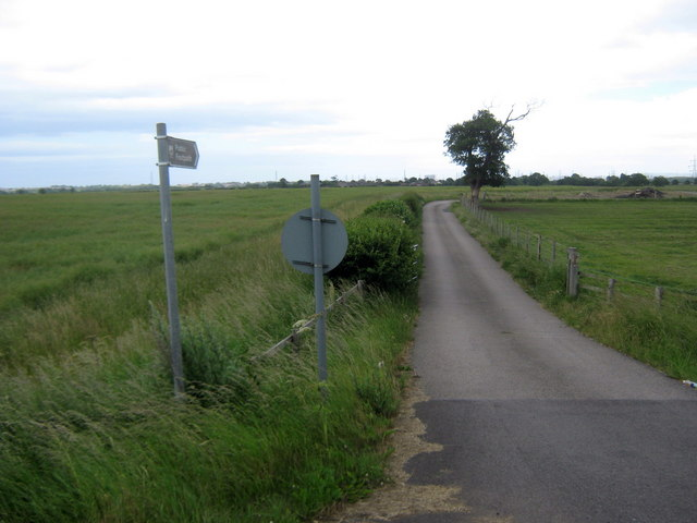 Footpath from old A19 to West Farm and beyond