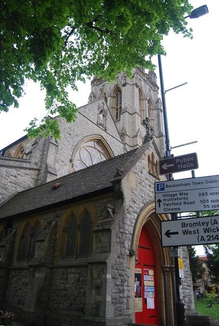 Entrance to st George's Parish Church, Beckenham
