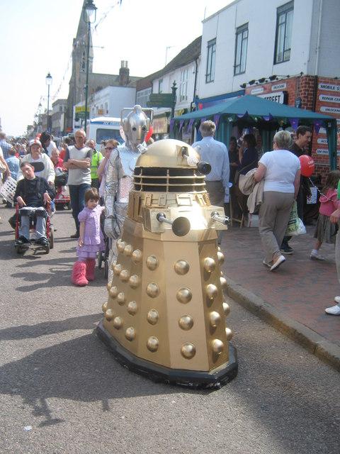 Gold Dalek in Sittingbourne