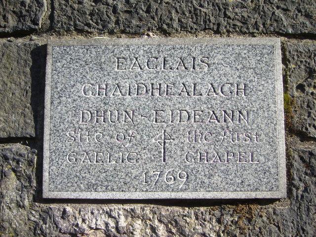 Site of Dunedin's first Gaelic chapel, Johnston Terrace