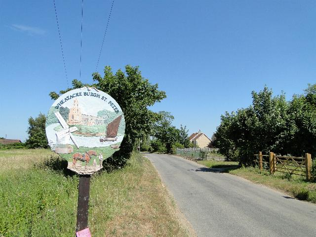Wheatacre and Burgh St Peter , Norfolk, Village Sign