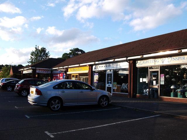 Row of shops at Leyes Lane, Kenilworth
