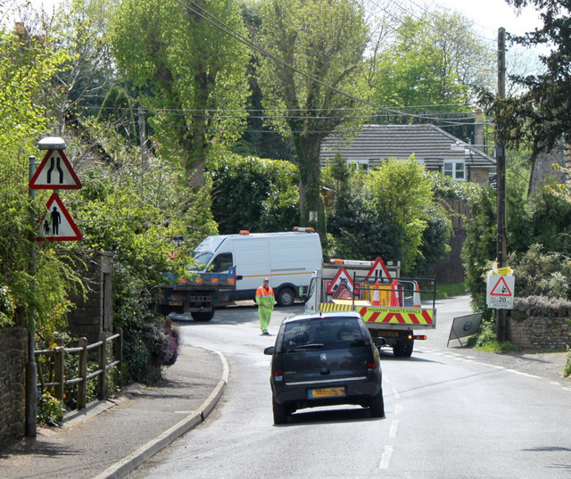 "2010 : Roadworks on ""The Street"" Chilcompton  /2"