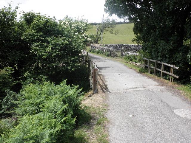 Bridge, over Moor Brook