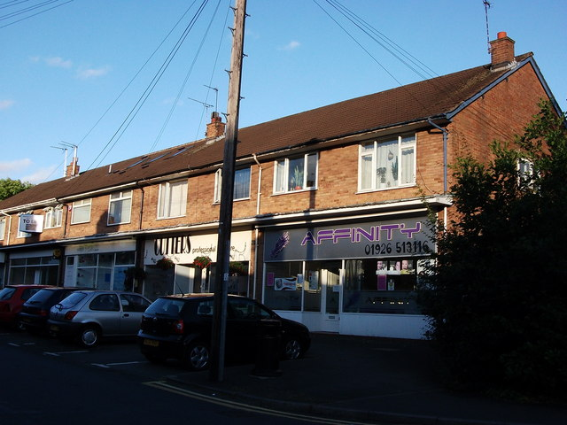 Row of shops with flats above, 68-76 Whitemoor Road, Kenilworth