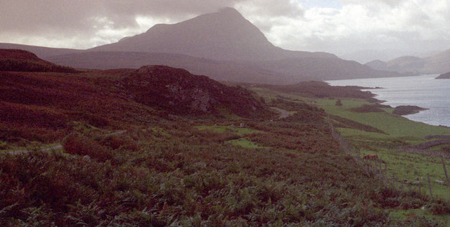 View of Loch and Ben Hope