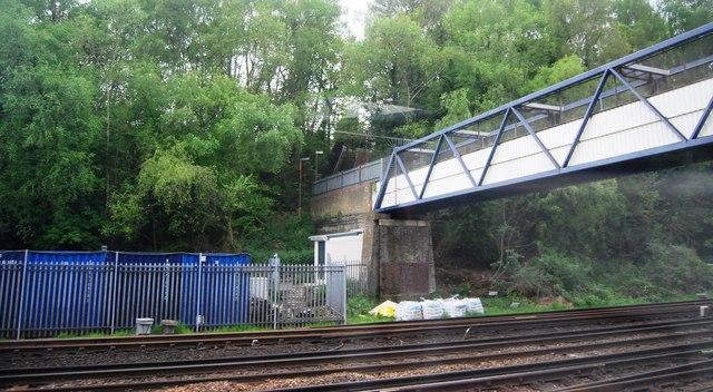 Footbridge crosses the mainline
