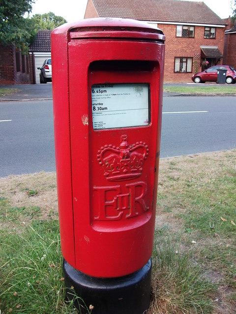 1970s style post box, Rawnsley Drive, Kenilworth