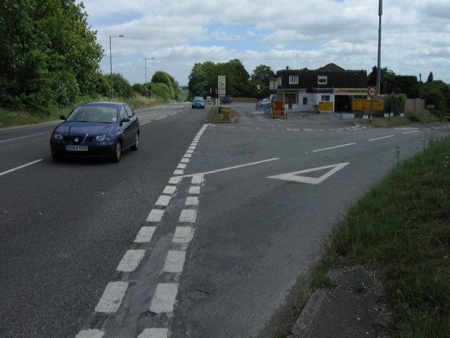 Road junction near Firsdown