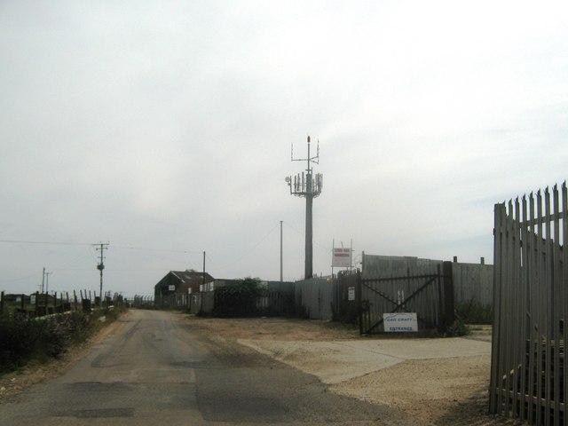 Mobile Phone Mast in Lydd Car Breakers