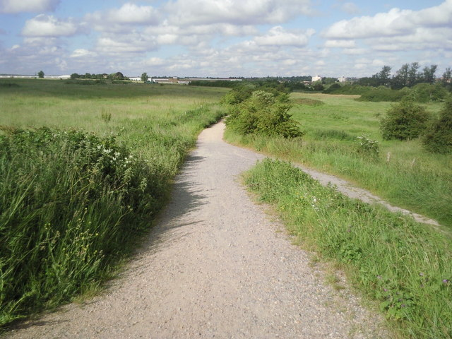 Looking back along Moat Lane towards Slade Green